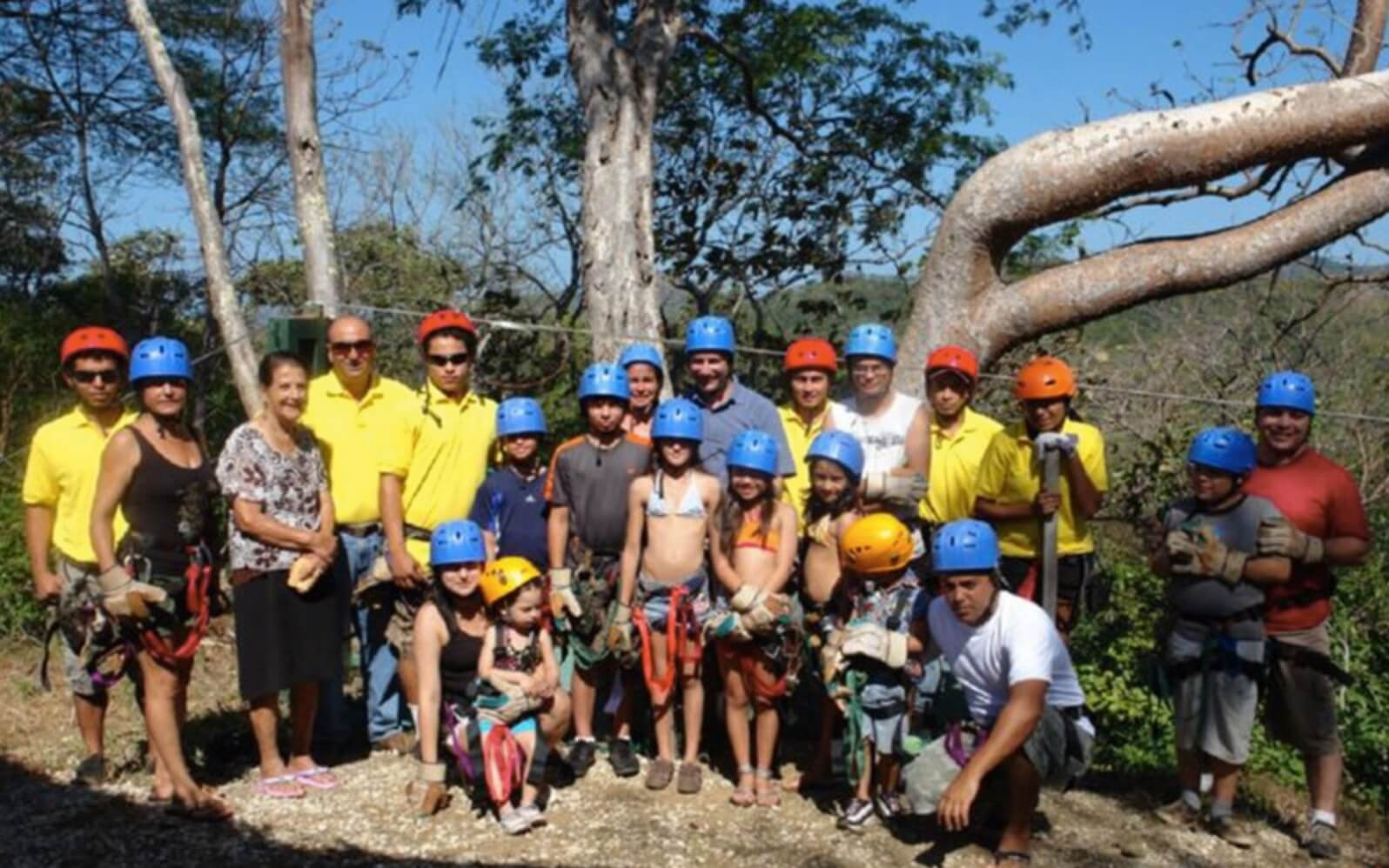Tamarindo Guanacaste Costa Rica zipline canopy tour group