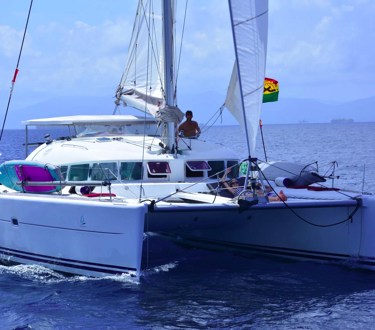 Catamaran sailing San Blas Panama