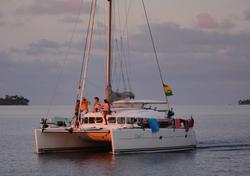L'Eclectic II catamaran in San Blas