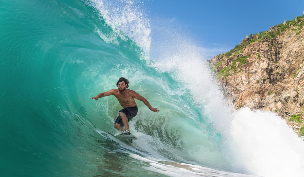 Salina Cruz Surf Camp perfect point breaks Mexico catching a sweet barrel