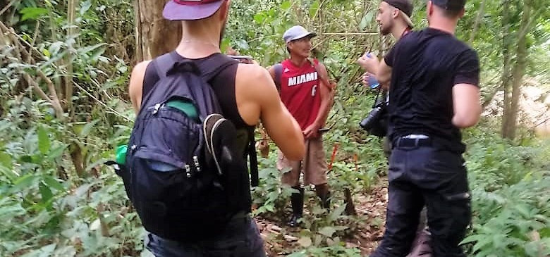 Darian Gap Jungle expedition group in Panama with tour guide