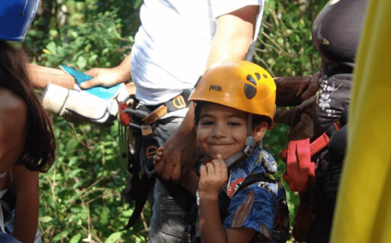 Tamarindo Guanacaste Smiling child in Costa Rica zipline canopy tour