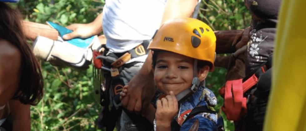 Tamarindo Guanacaste Smiling child in Costa Rica zipline canopy tour