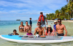 Roca family and guests in San Blas