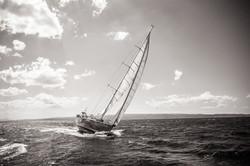 Queen Axiera under sail in Croatia