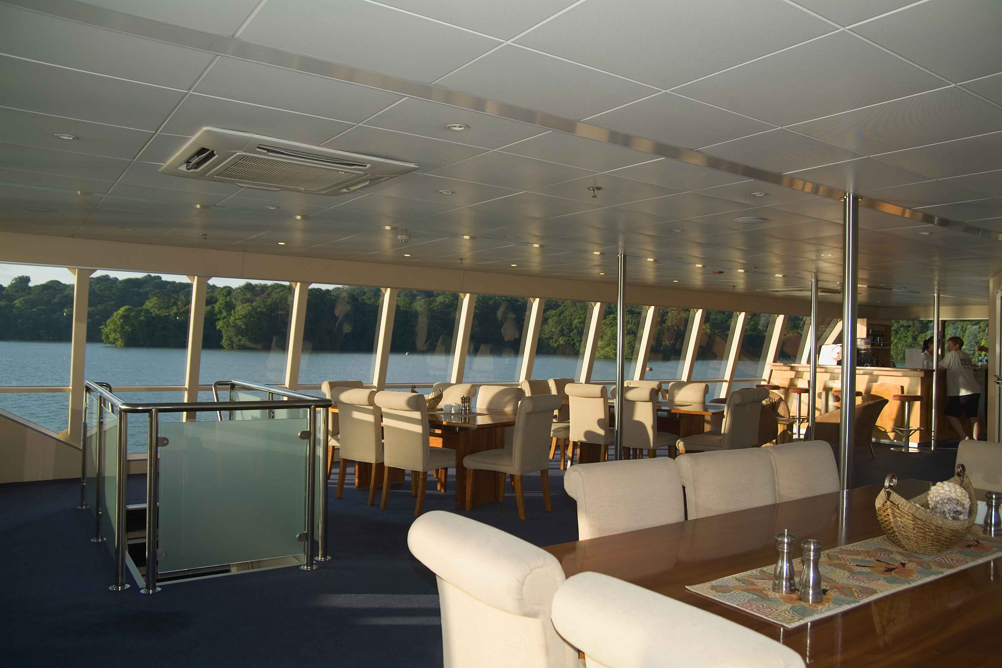 Lounge on Panama adventure cruise