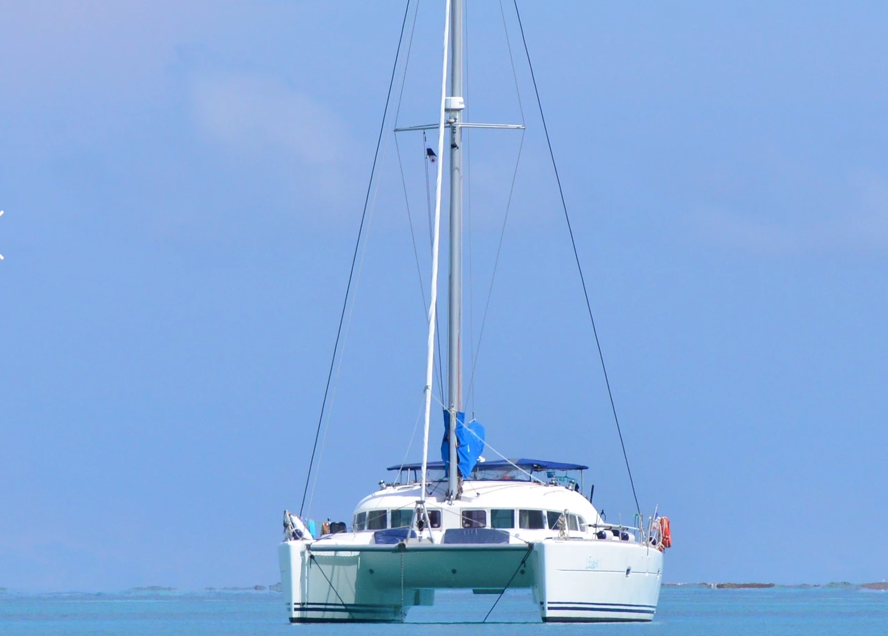 Catamaran in San Blas Panama