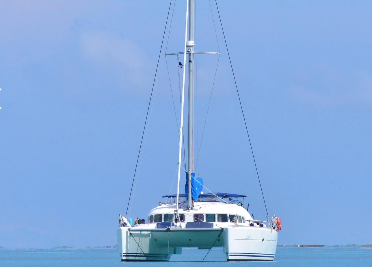 Catamaran in San Blas Panama