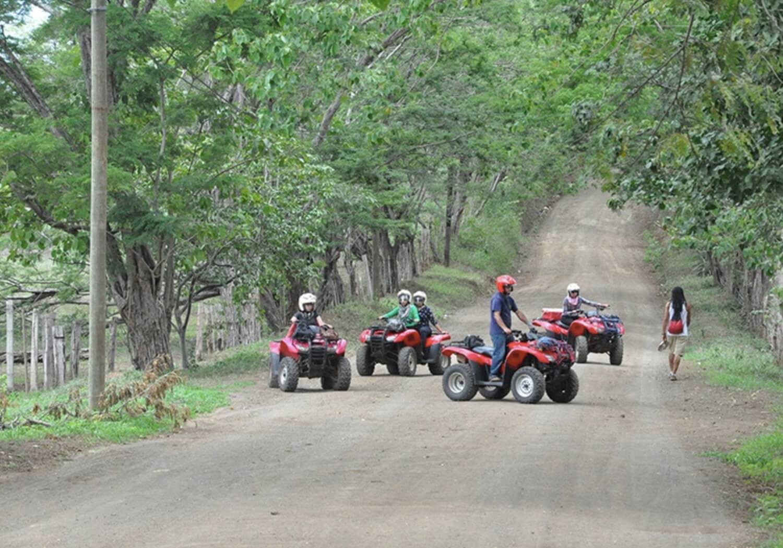 Tamarindo Guanacaste ATV adventure tour group stopping for a break
