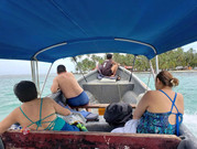 Arriving at the island in San Blas