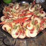 Delicious lobster lunch San Blas