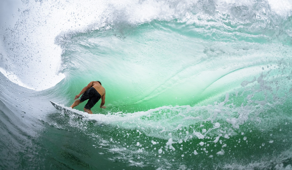 Salina Cruz Surf Camp dropping into another sweet wave
