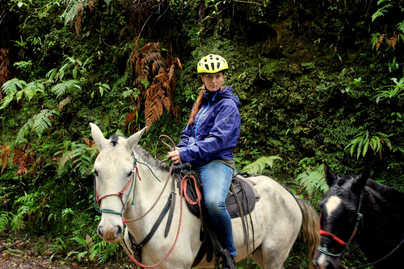 Monteverde Costa Rica guided Horseback riding tour woman on horse