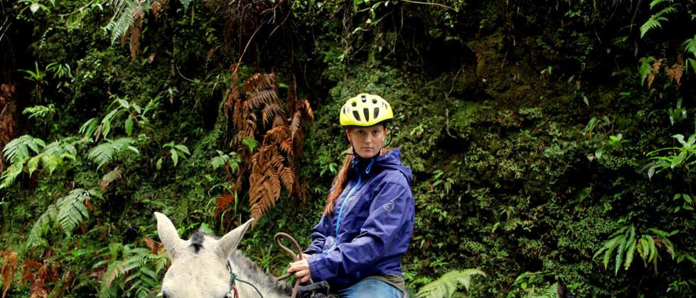 Monteverde Costa Rica guided Horseback riding tour woman on horse