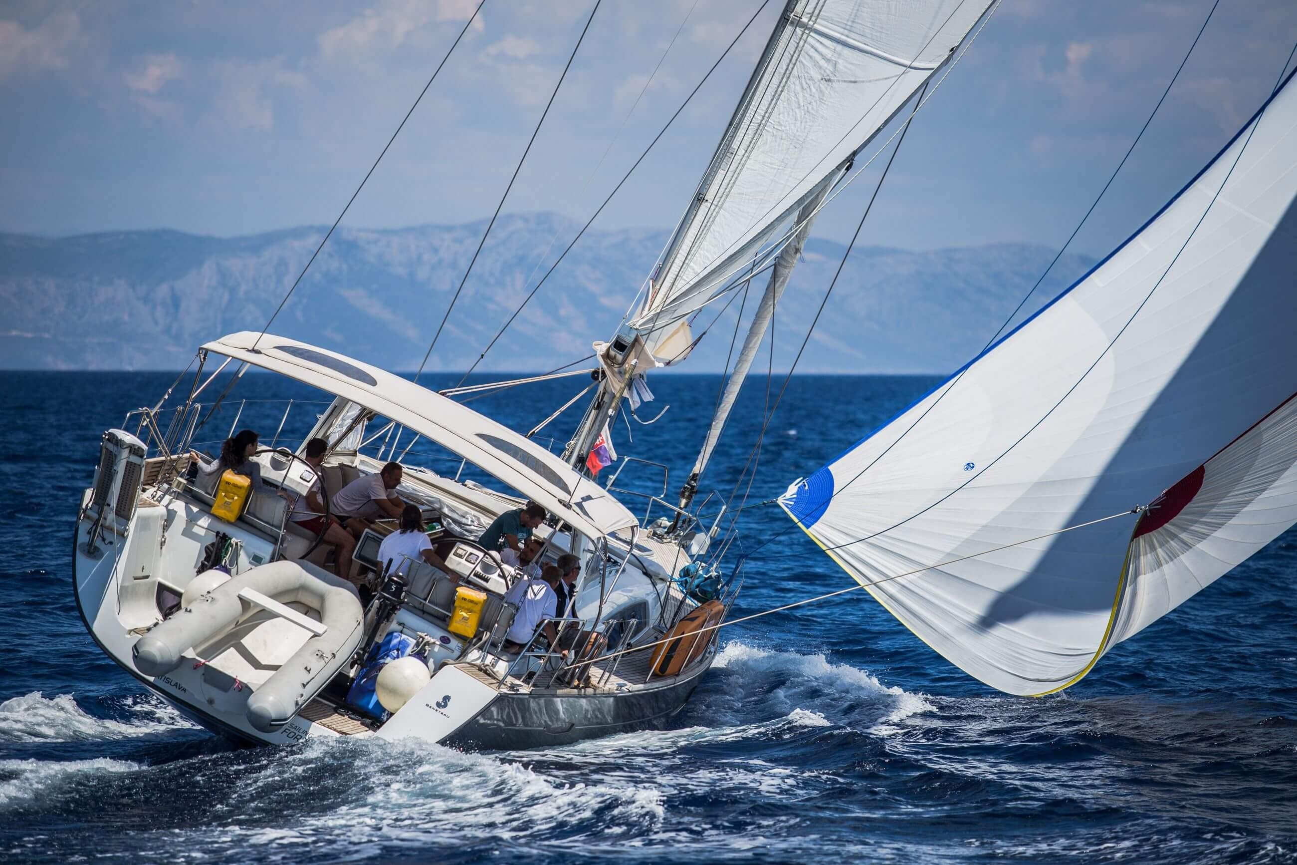 Queen Axiera under full sail Croatia