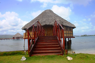 San Blas Cabin over water