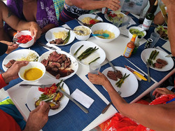 Zenith II tasty dinner in San Blas