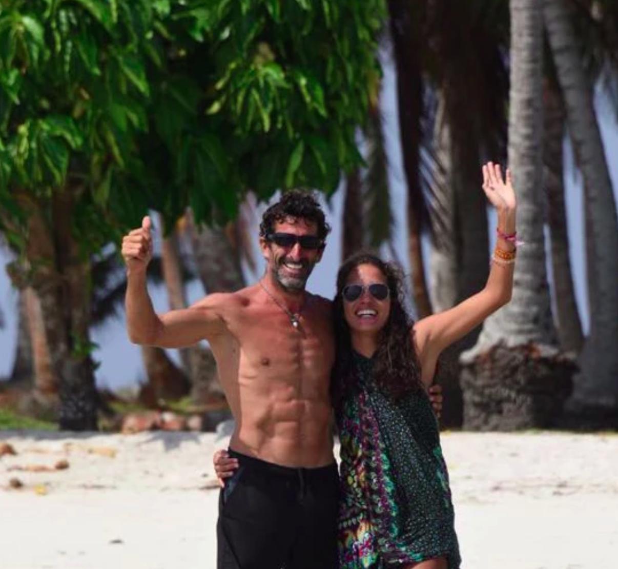 Happy couple smiling San Blas