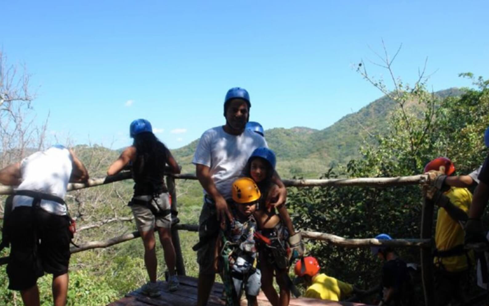 Tamarindo Guanacaste Costa Rica zipline canopy tour group enjoying the views
