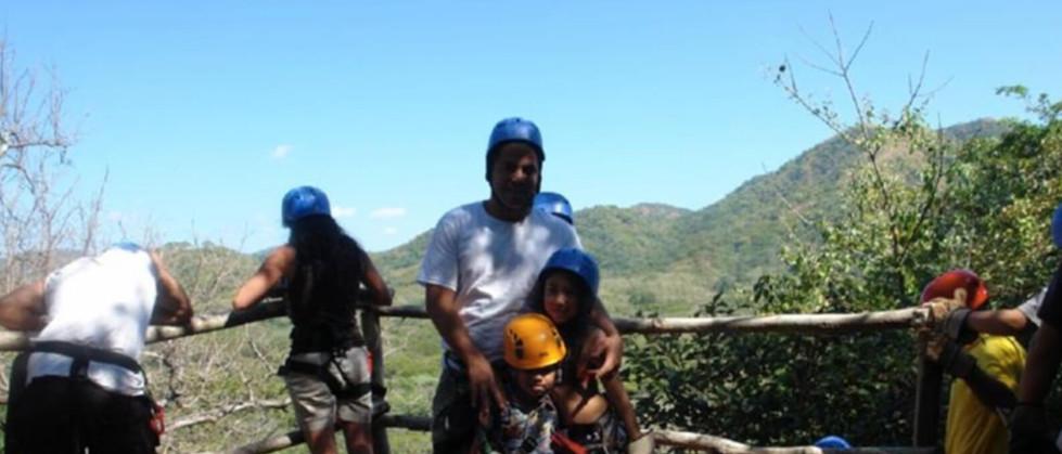 Tamarindo Guanacaste Costa Rica zipline canopy tour group enjoying the views