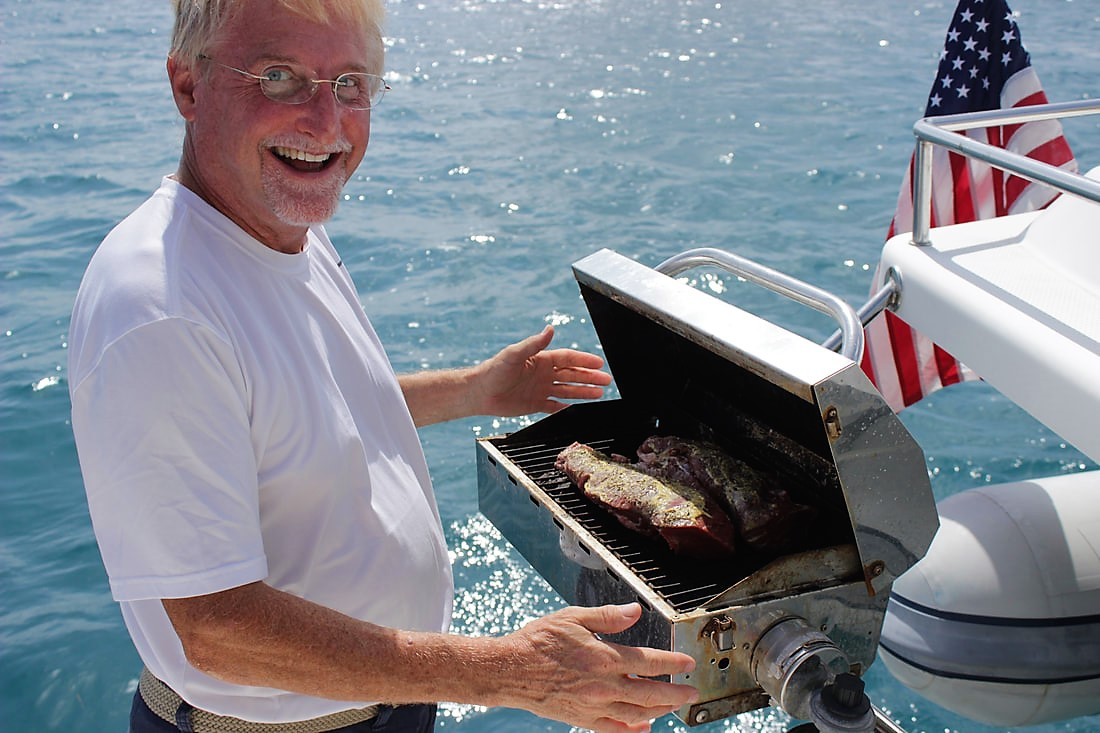 BBQ with Captain Frank on Zenith II