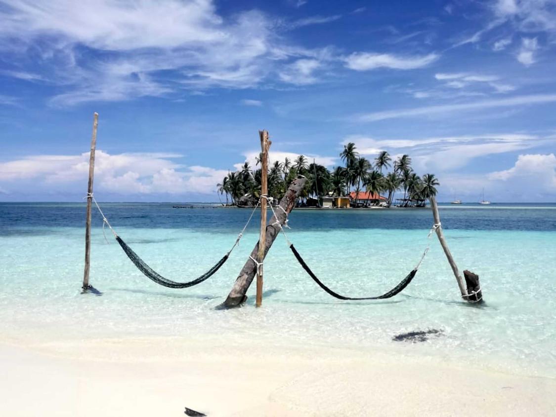 Island of the hammocks in San Blas