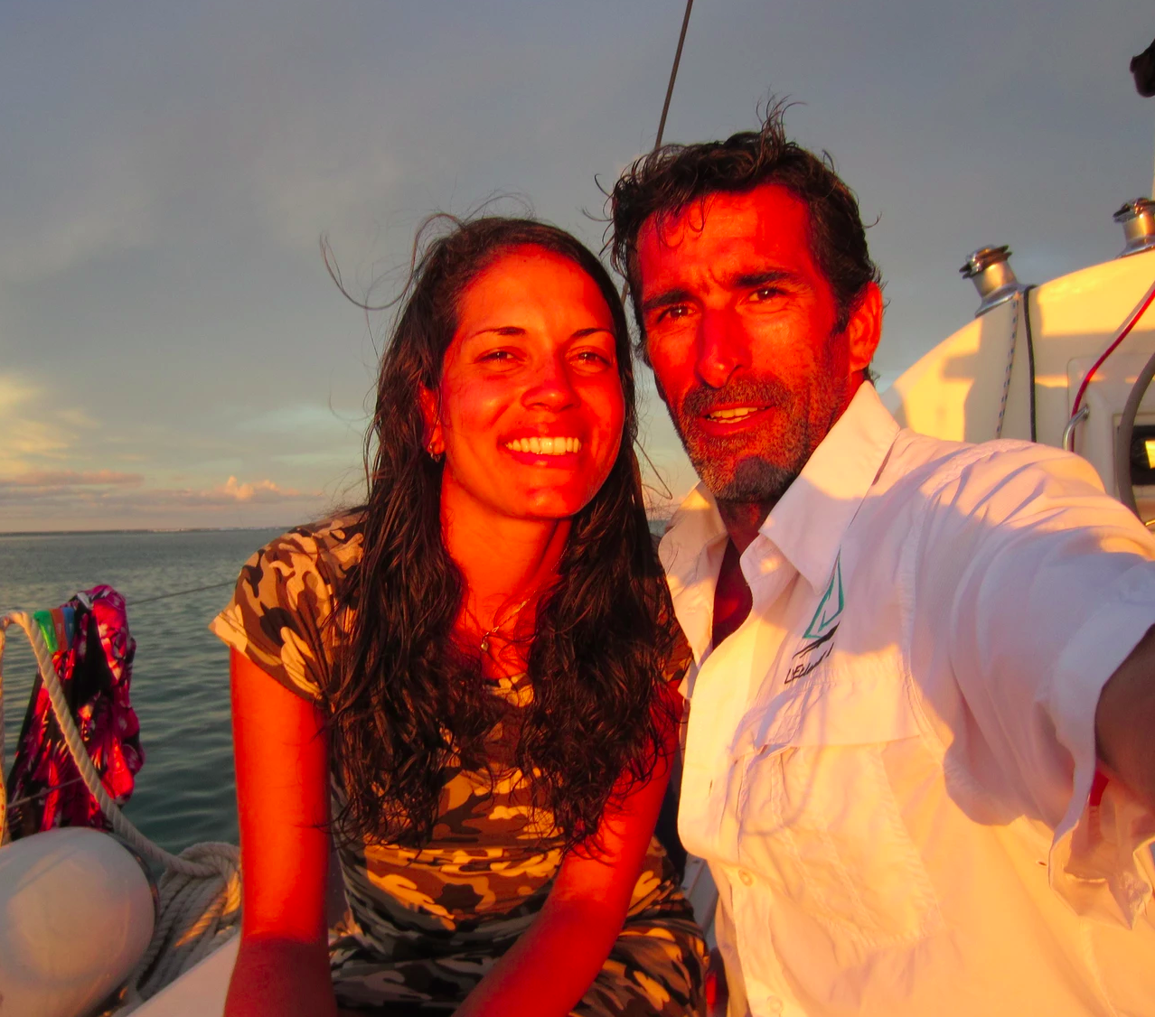 Chris and Marie at sunset San Blas