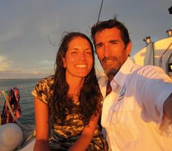 Chris and Marie at sunset San Blas