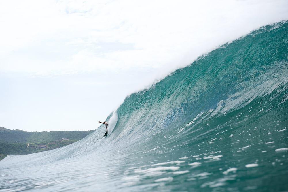Salina Cruz Surf Camp dropping into a glassy wave