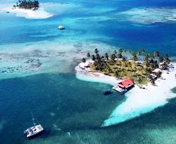 Aerial drone San Blas island reef