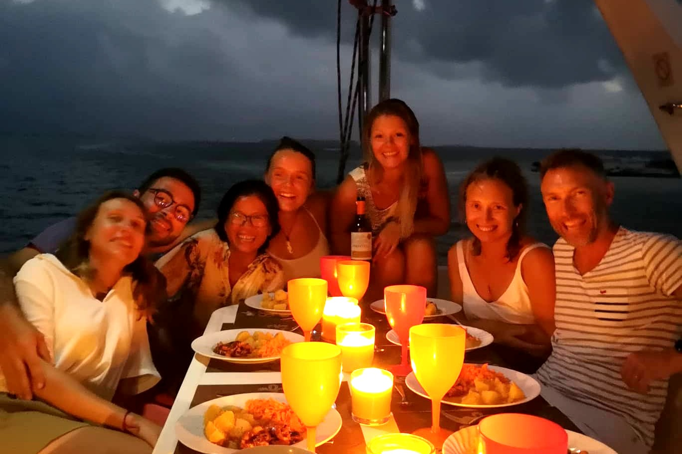 Vicky II candle dinner fun San Blas