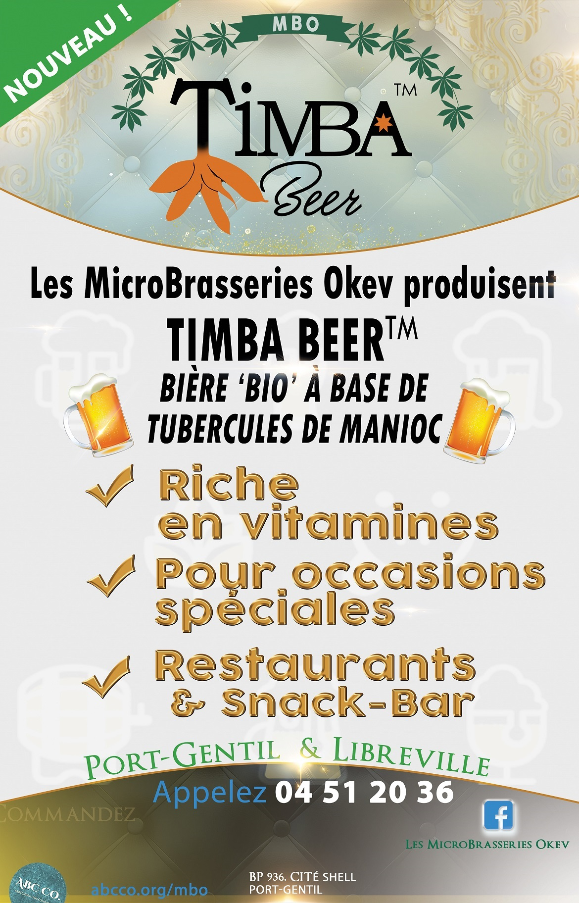 2018 TIMBA Beer Affiche Banner