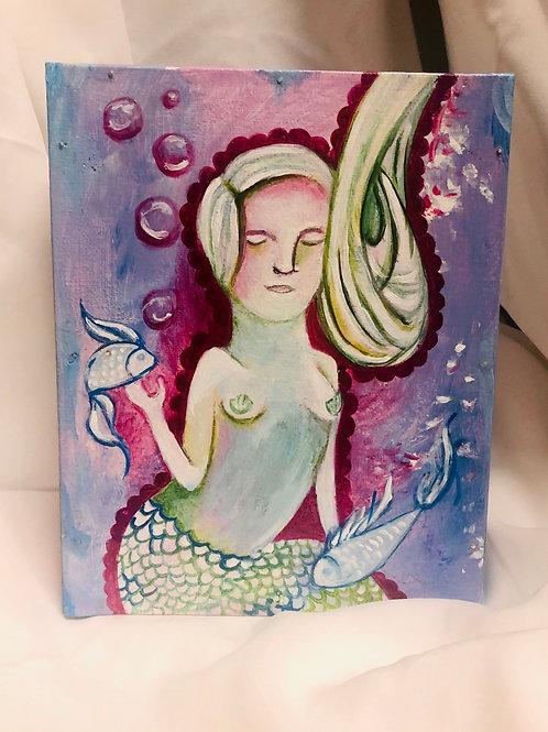 Mermaid / Acrylic Painting - Small Format