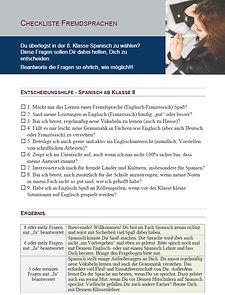 Checkliste Spanisch