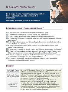 Checkliste Französisch