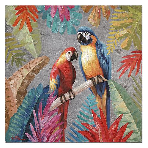 Tableau couple perroquets - Sélection Touzeau