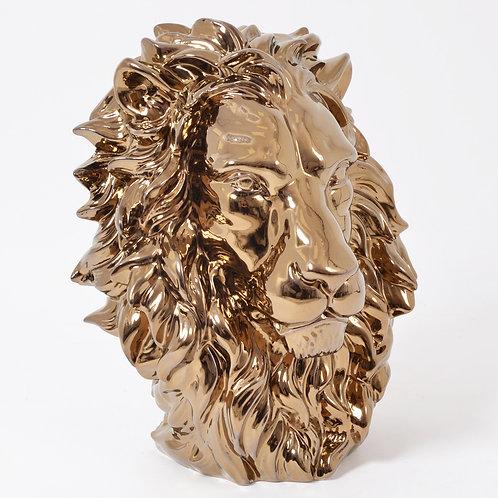 Statue King tête de lion or - Sélection Touzeau