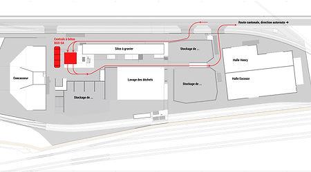 Site de production circulaire complet, recyclage et valorisation des déchets de chantier à Vufflens-la-Ville