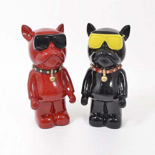Statues Illusion chiens lunettes - Sélection Touzeau
