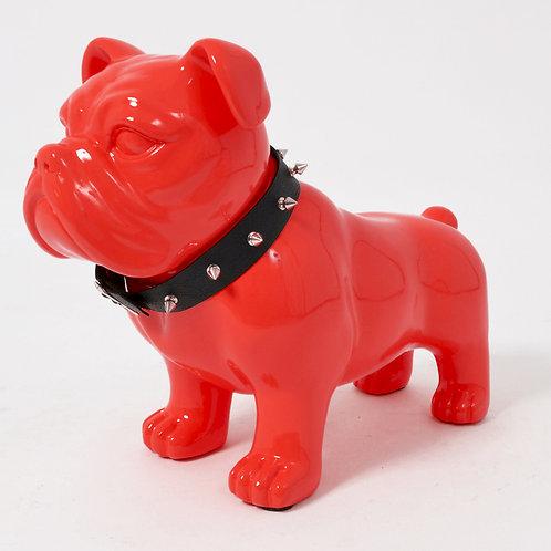 Statue Classy chien rouge collier - Sélection Touzeau