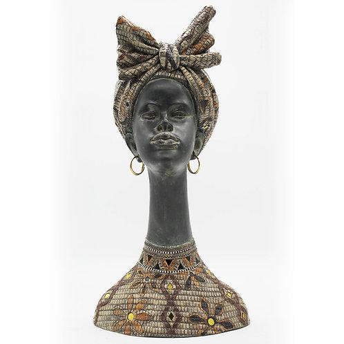 Statue Dakar tête africaine - Sélection Touzeau
