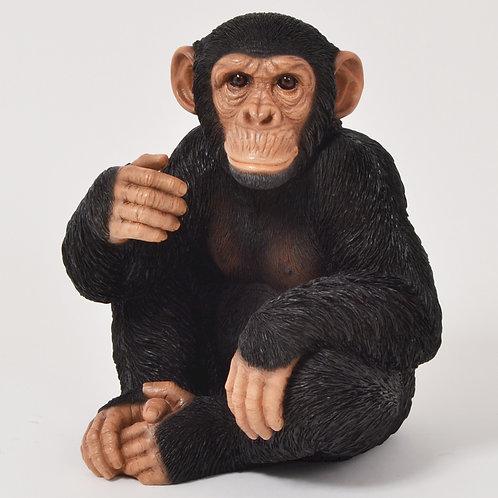 Statue Faune chimpanzé assis - Sélection Touzeau