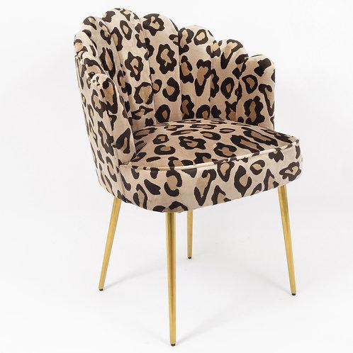 Fauteuil Leopardo coquille - Sélection Touzeau