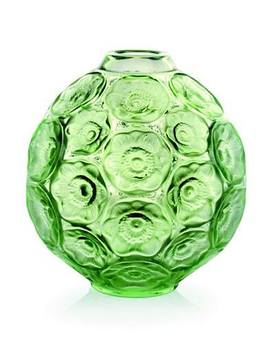 Vase Soliflore Anémone vert - Lalique