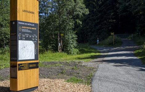 Réalisation d'une signalétique touristique aux Pléiades