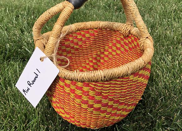 Mini Round Market Basket 1