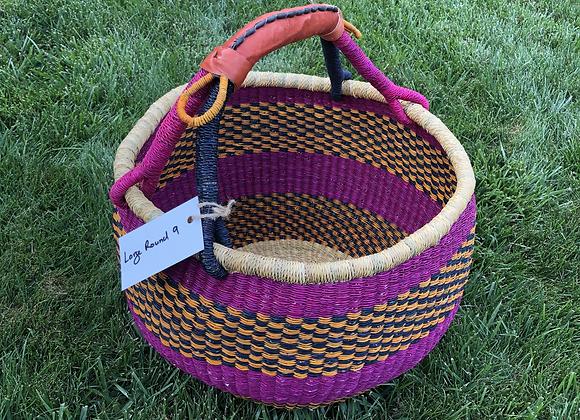 Large Round Market Basket 9
