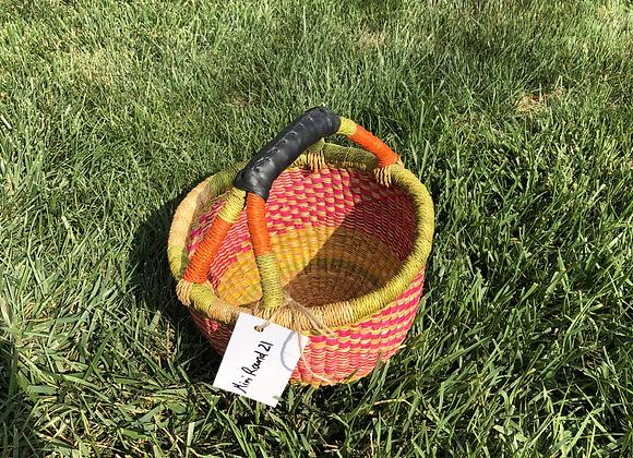 Mini Round Market Basket 21