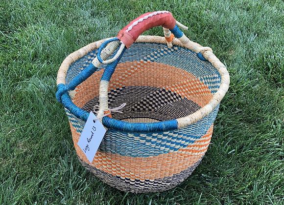 Large Round Market Basket 13