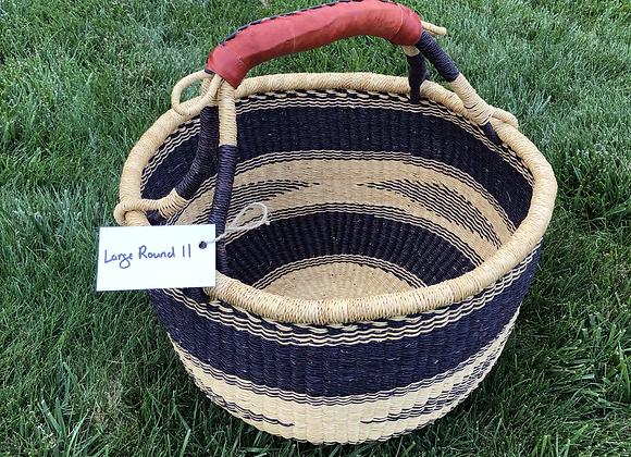 Large Round Market Basket 11